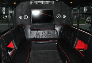Interior of Party Bus To Red Rocks